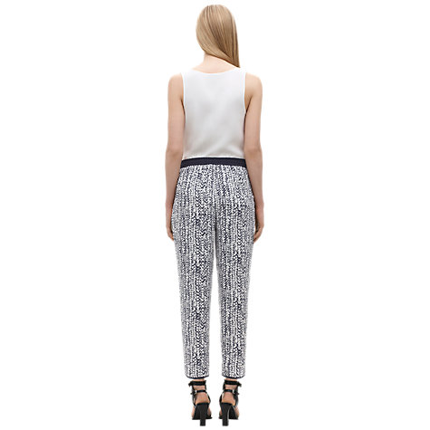 Buy Whistles Braid Printed Trousers, Navy Online at johnlewis.com