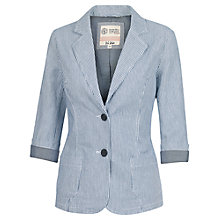 Buy Fat Face Hi Summer Striped Blazer, Navy Online at johnlewis.com