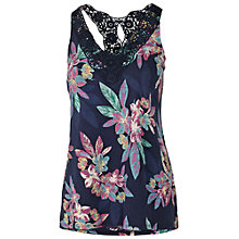 Buy Fat Face Bala Tropical Floral Cami Top, Navy Online at johnlewis.com