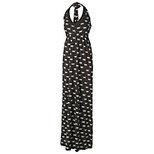 Buy Fat Face Bembridge Big Cat Halter Maxi Dress, Phantom Online at johnlewis.com