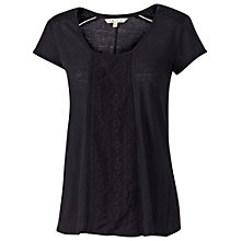 Buy Fat Face Ludlow Linen Lace T-Shirt Online at johnlewis.com