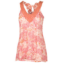 Buy Fat Face Bala Stencil Leaves Cami Top, Corabell Online at johnlewis.com