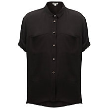 Buy Whistles Riley Blouse, Black Online at johnlewis.com