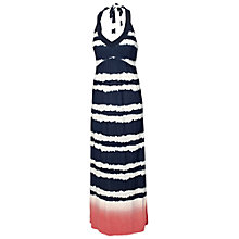 Buy Fat Face Tiedye Halter Maxi Dress, Navy Online at johnlewis.com