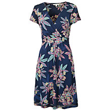 Buy Fat Face Camille Tropical Floral Dress, Navy Online at johnlewis.com