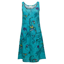 Buy East Dream Pintuck Linen Dress, Ocean Online at johnlewis.com