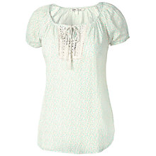 Buy Fat Face Mini Palm Popover Top, Ivory Online at johnlewis.com