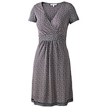 Buy Fat Face Camille Mini Palm Dress, Navy Online at johnlewis.com