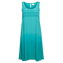 Buy East Swirl Dip Dye Dress, Ocean Online at johnlewis.com