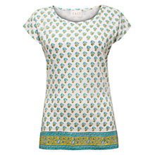 Buy East Jersey Print Border Top, White / Multi Online at johnlewis.com