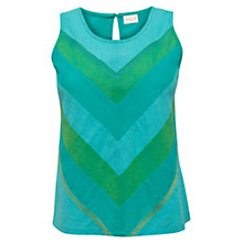 Buy East Sleeveless Cotton Top, Ocean Online at johnlewis.com