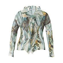 Buy Chesca Smoke Print Crush Pleat Blouse, Khaki Online at johnlewis.com