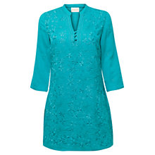Buy East Ellis Embroidered Kurta, Aqua Online at johnlewis.com