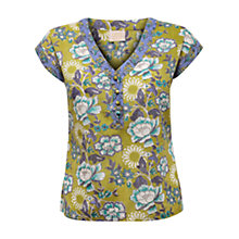 Buy East Gracie Booti Print Blouse, Kiwi Online at johnlewis.com