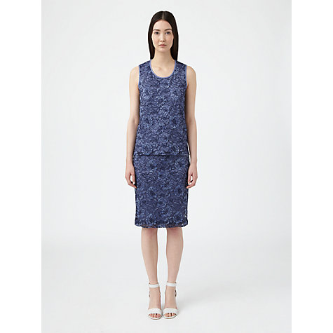 Buy Jigsaw Lace Top, Blue Online at johnlewis.com