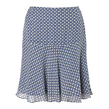 Buy Jigsaw Tribal Geo Flip Hem Skirt, Blue Online at johnlewis.com