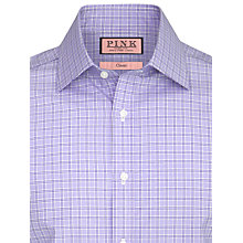 Buy Thomas Pink Lancaster Check Shirt, White/Purple Online at johnlewis.com