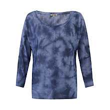 Buy Jigsaw Washed Tie Dye Batwing Jumper, Blue Online at johnlewis.com