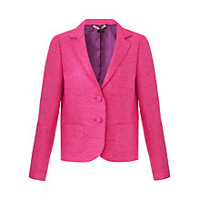 Buy Jigsaw Parisienne Tailored Silk Jacket, Pink Online at johnlewis.com