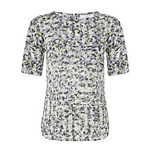 Buy COLLECTION by John Lewis Ditsy Floral Shell Top, Black Online at johnlewis.com