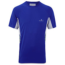Buy Ron Hill Advance Short Sleeve Crew Neck Running Top, Cobalt/Clay Online at johnlewis.com