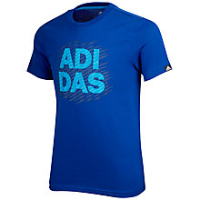 Buy Adidas Lineage Boys' Graphic T-Shirt Online at johnlewis.com