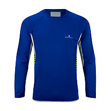 Buy Ronhill Advance Long Sleeve Crew Neck Top, Cobalt/Clay Online at johnlewis.com
