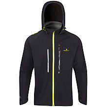 Buy Ronhill Vizion Storm Waterproof Running Jacket, Black/Fluorescent Yellow Online at johnlewis.com