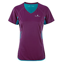 Buy Ronhill Aspiration Short Sleeve Running Top, Grape/Teal Online at johnlewis.com