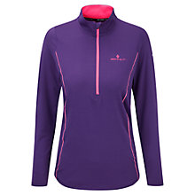 Buy Ronhill Base Thermal Long Sleeve 1/2 Zip Running Top, Wildberry/Fluorescent Pink Online at johnlewis.com
