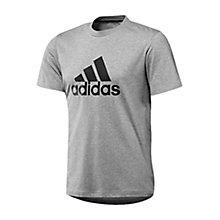 Buy Adidas Essentials Logo T-Shirt, Grey Online at johnlewis.com