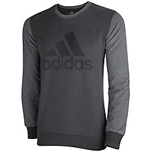 Buy Adidas Logo Long Sleeve T-Shirt, Grey Online at johnlewis.com