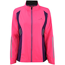 Buy Ronhill Vizion Windlite Running Jacket, Fluorescent Pink/Grape Online at johnlewis.com