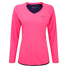 Buy Ronhill Vizion Long Sleeve Running Top, Fluorescent Pink Online at johnlewis.com