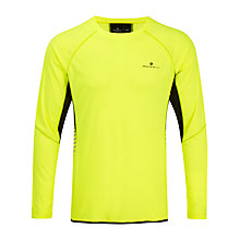 Buy Ronhill Vizion Long Sleeve Running Top, Fluorescent Yellow Online at johnlewis.com