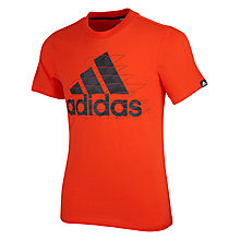 Buy Adidas Graphic Logo Boys' T-Shirt Online at johnlewis.com