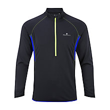 Buy Ronhill Long Sleeve 1/2 Zip Running Top, Black/Cobalt Online at johnlewis.com