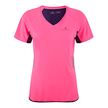 Buy Ronhill Vizion Short Sleeve Running Top, Fluorescent Pink Online at johnlewis.com