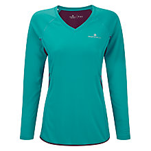Buy Ronhill Aspiration Long Sleeve Running Top, Teal/Grape Online at johnlewis.com