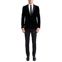 Buy Ben Sherman Tailoring Black Watch Velvet Blazer, Black Online at johnlewis.com