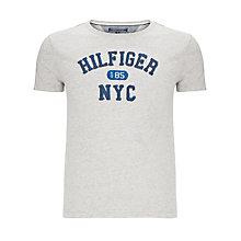 Buy Tommy Hilfiger Briac Short Sleeve T-Shirt, Cloud Heather Online at johnlewis.com