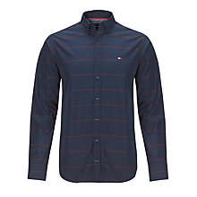 Buy Tommy Hilfiger Byram Stripe Long Sleeve Shirt, Navy Blazer Online at johnlewis.com