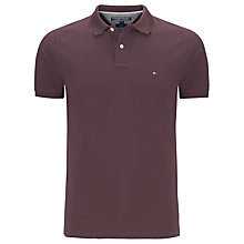 Buy Tommy Hilfiger Polo Shirt, Merlot Online at johnlewis.com