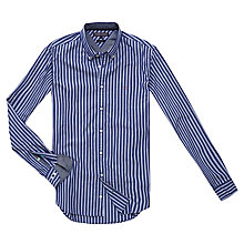 Buy Tommy Hilfiger Maddock Stripe Shirt, Shirt Blue Online at johnlewis.com