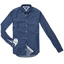 Buy Tommy Hilfiger Denim Dobby Shirt, Indigo Online at johnlewis.com