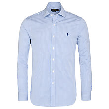 Buy Polo Ralph Lauren Slim Fit Regent Shirt, Blue Stripe Online at johnlewis.com