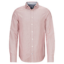 Buy Tommy Hilfiger Dobby Long Sleeve Shirt, Red/White Online at johnlewis.com