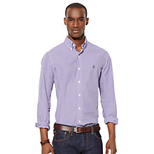 Buy Polo Ralph Lauren Gingham Slim Fit Poplin Shirt, Purple Online at johnlewis.com