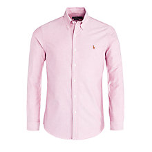 Buy Polo Ralph Lauren Slim Fit Oxford Shirt, Rose Red Online at johnlewis.com