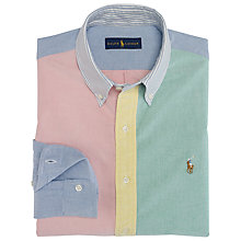 Buy Polo Ralph Lauren Button Down Fun Shirt, Green/Red Online at johnlewis.com